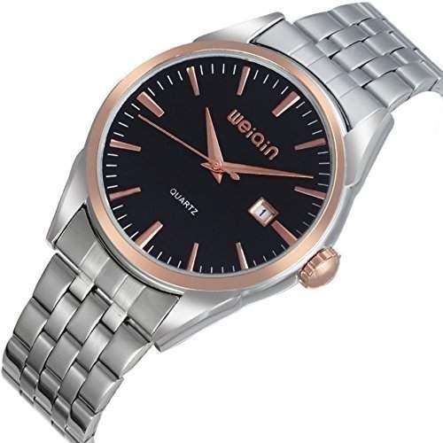 Herren Armbanduhr Klassisch Formell Business Edelstahlgehaeuse 2015