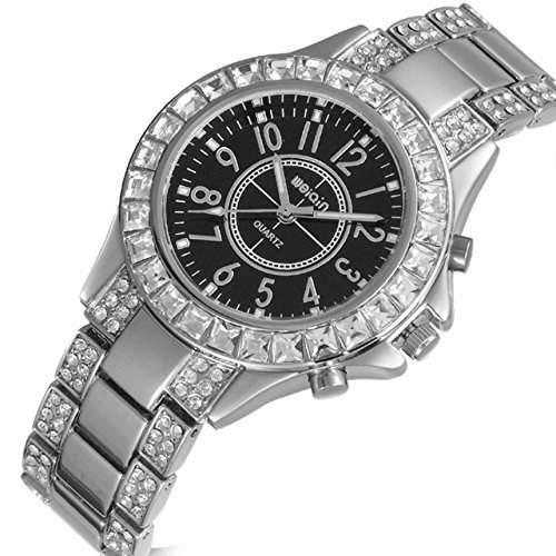 Neu Eingetroffen - Damen Elegant Kristall Element Gross Ziffernblatt Uhr
