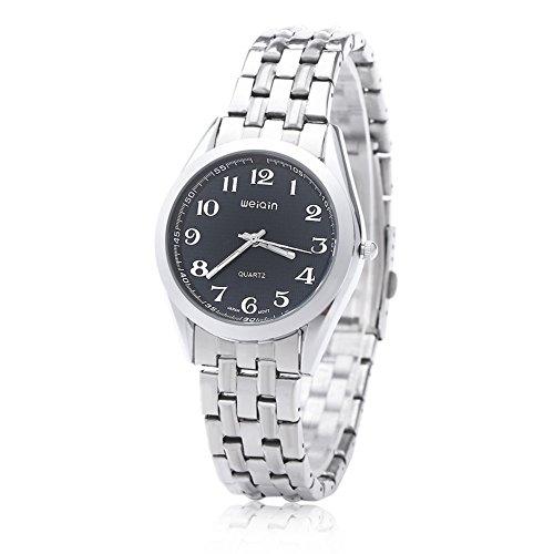 Leopard Shop WEIQIN w4368g Herren hardlexglas Glas Spiegel Business Style Edelstahl Strap Armbanduhr Blau