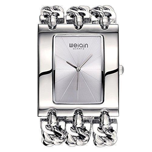 weiqin luxus frauen alle uhr withradiative linearer index und punk kette armband 278103