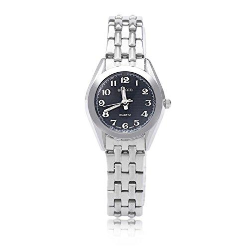 Leopard Shop WEIQIN w4368l Frauen Quarzuhr hardlexglas Glas Spiegel Business Style Edelstahl Strap Armbanduhr Blau