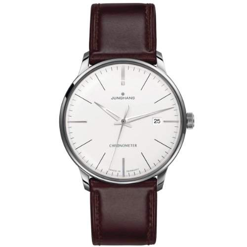 Junghans Herren-Armbanduhr XL Meister Chronometer Analog Automatik Leder 027413000