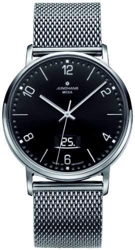 Junghans Herren-Armbanduhr XL MILANO FUNK Analog Edelstahl 030404444