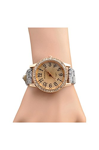 Armbanduhr womage Quarz Uhr Diamanten Zifferblatt Armbanduhr Armschmuck Grau