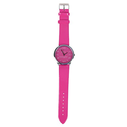 WoMaGe Mathematik Zifferblatt Damen Quarz Mode Armbanduhr Rose Rot