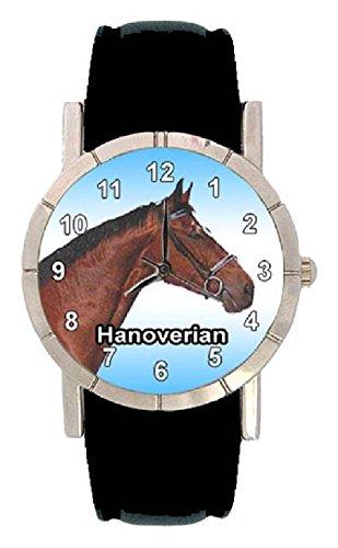 Hannoveraner Pferde Motiv mit Lederarmband