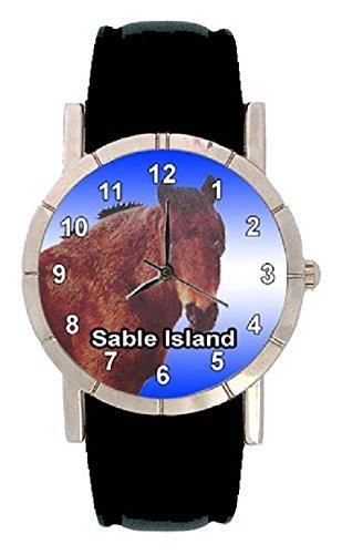Sable Island Pferde Motiv mit Lederarmband