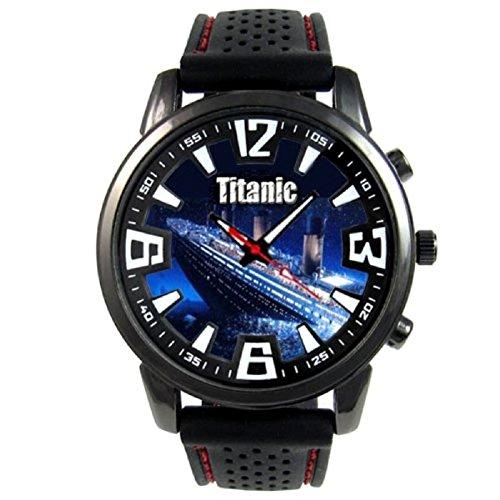 Titanic mit schwarzem Silikonarmband CSF026AZ