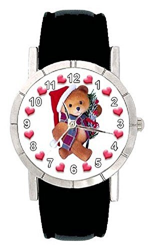 Weihnachts Teddy Motiv mit Lederarmband