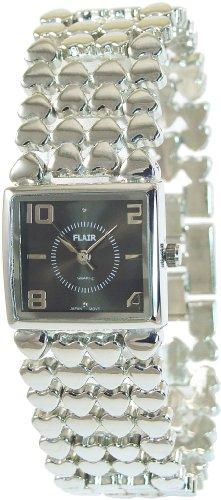 Braun Silber Analog Metall Armbanduhr Mode Quarz