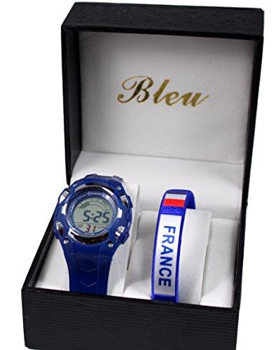 Box mit Kinder Armbanduhr franzoesische Nationalmannschaft Les Bleus 2016 Fussball Europameisterschaft