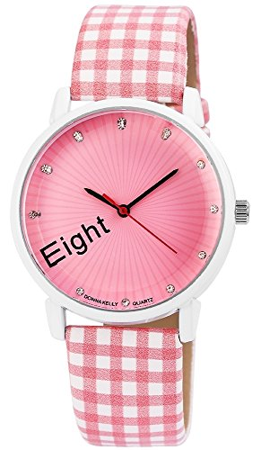 Modische Damenuhr Rosa Weiss Magic Cubes Analog Metall Leder Strass Armbanduhr Quarz Uhr