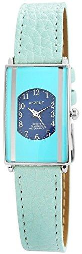 Modische Blau Analog Metall Leder Armbanduhr Quarz Uhr