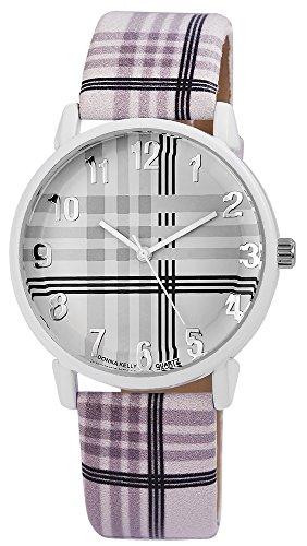 Modische Weiss Grau Schwarz Modern Lines Analog Metall Leder Strass Armbanduhr Quarz Uhr