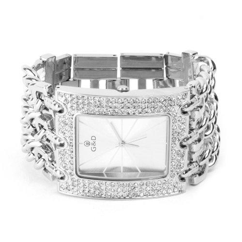 YESURPRISE 044476 Armbanduhr Damen Armband aus Edelstahl Farbe Silber