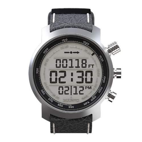 Multifunktionsuhr Armbanduhr Elementum Terra black leather - Hoehenmesser Kompass Barometer