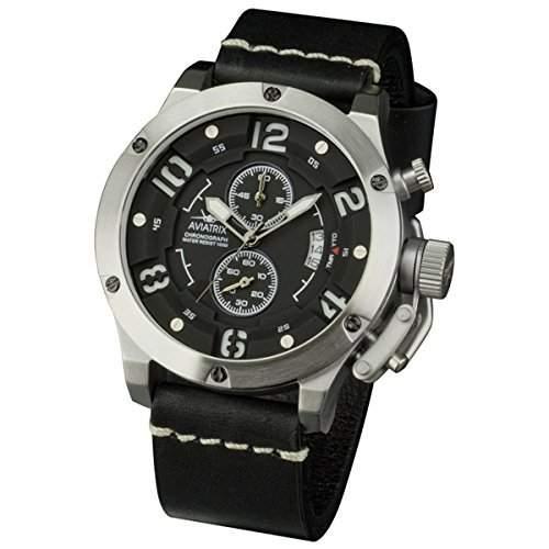 INFANTRY-Herrenuhr-Armbanduhr Leder Wasserdicht Herren Uhr Analog Elegante Fliegeruhr Sportuhr Luxury Quarzuhr