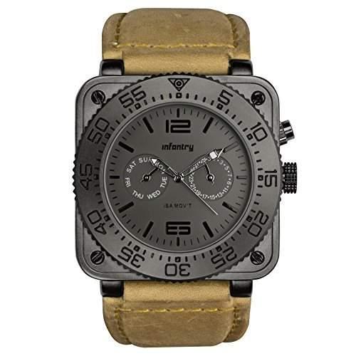 INFANTRY Herren Armbanduhr ISA SWISS Quarz Uhrwerk Luxus Mode Fashion Sportuhr geeignet fuer Mann