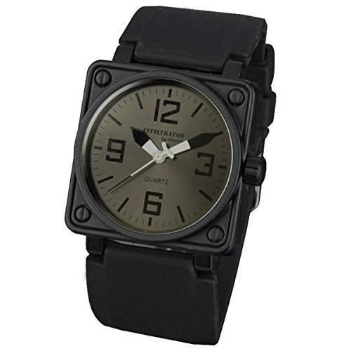 INFANTRY Herren-Armbanduhr Herren Uhren Schwarz Quarz Armband Uhr Herrenuhr Edelstahl Uhren Maenner