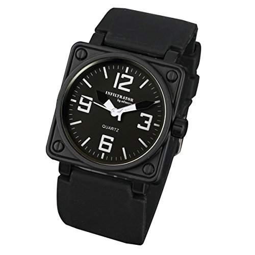 INFANTRY Herren-Armbanduhr 17-22cm Uhr Schwarz Chronograph Quarz Armbanduhr Herrenuhr Quarzuhr HERREN DESIGN NEU