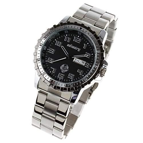 NEU INFANTRY Herren-Armbanduhr Chronograph Quarz schwarz Datum Edelstahl Herrenuhr Armbanduhr Fliegeruhren Quarzuhr