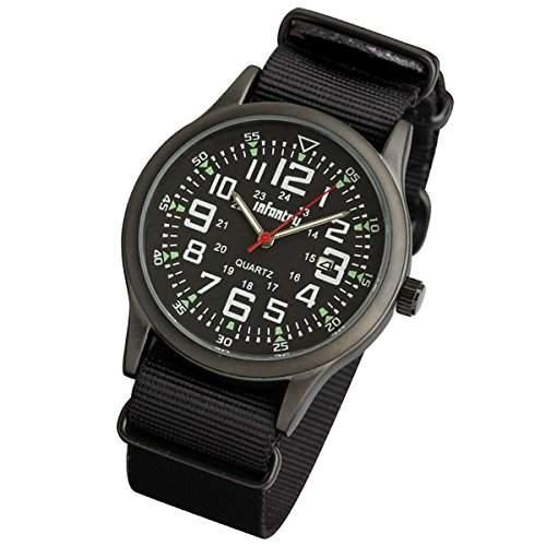 INFANTRY Quarzuhr Herren-Armbanduhr Chronograph Armbanduhr Sport Herrenuhr Uhr Schwarz Fliegeruhren