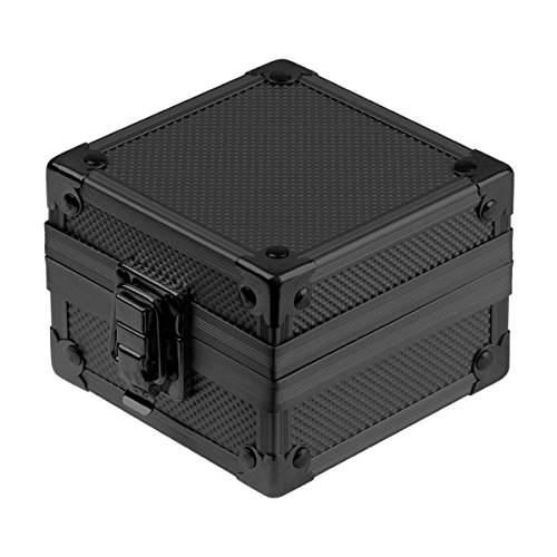 INFANTRY Schwarz Aluminum Uhr Geschenkbox NEU Uhrenbox Metal Kasten Kisten Ausstellungsstand MIT Verschluss #INB-BLK