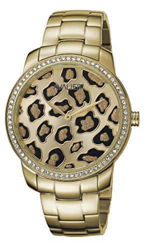 AVALIERI av1l073 m0054 champagne 37 Uhr fuer Frauen Edelstahl Armband Gold