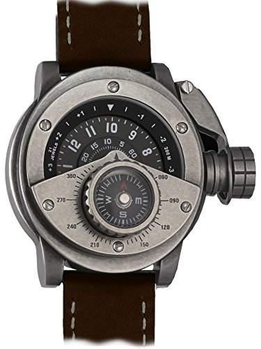 """Retrowerk Automatik Uhr """"MIY-8215"""" Uhr mit Kompass Aufsatz - R016-BR"""
