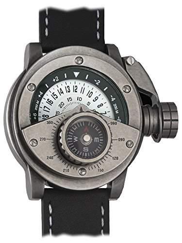 Retrowerk 24-h Scheiben Uhr mit Kompass - Spezialkronenhebel R017