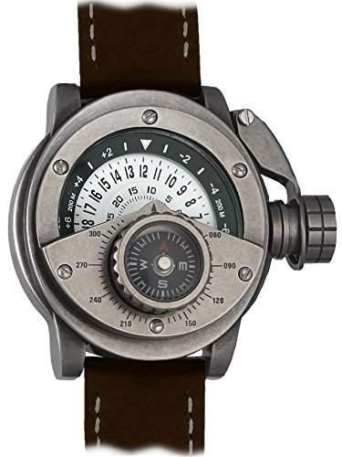 Retrowerk 24-h Scheiben Uhr Aussenkompass-System R017BR