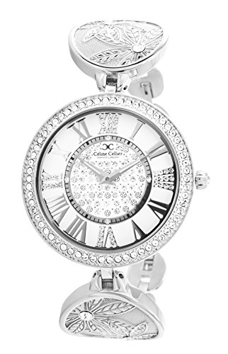 Celine Cellier Analog Quarz Edelstahl Diamanten CC13G09