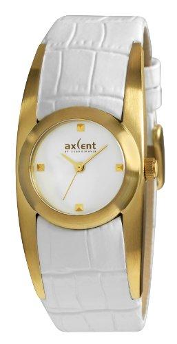 Axcent of Scandinavia IX42238 131 Claw Quarz Analog Weisses Ziffernblatt Armband Leder Weiss