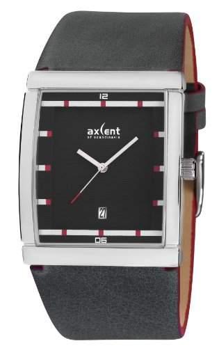Axcent Herren-Armbanduhr Wallstreet Analog Quarz Leder IX50971-237
