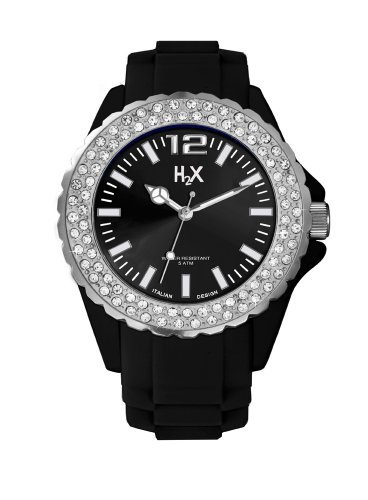H2X SS382DN1 Damen Armbanduhr Alyce Quarz analog Silikon Schwarz