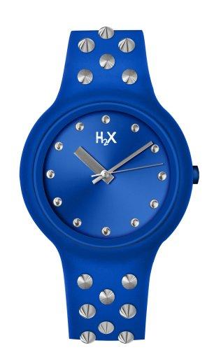 H2 x SB400 x B2 Damen Armbanduhr Quarz Analog Armband Silikon Blau