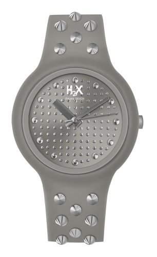 H2X-SG400XG3 Damen-Armbanduhr Alyce Quarz analog Silikon, Grau