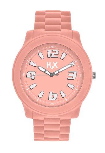 H2 x SP381 x P2 Armbanduhr Quarz Analog Armband Silikon Rosa