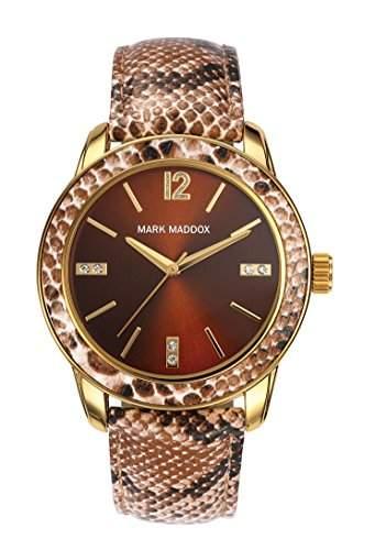 Mark Maddox Damen-Armbanduhr Analog Quarz Polyurethan MC3007-45