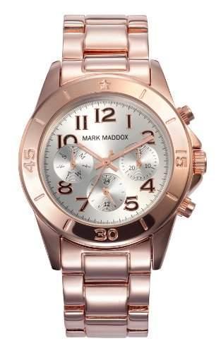 Mark Maddox Pink Gold Damenuhr bicolor roségoldfarbensilber MM3006-5