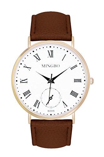 New Trend Unisex Armbanduhr Analog Display Quarzwerk Leder Armband Chronograph Optik mit Dornschlie e La Bohme Anker Weltkarte rsmische Ziffern
