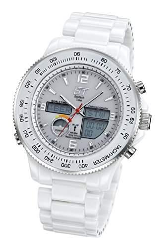 Keramikuhr Funksolar Herren Eco Tech Time Solar Drive Funk Ceramic Racer Herrenuhr EGC-11181-11M Herren-Keramik-Uhr