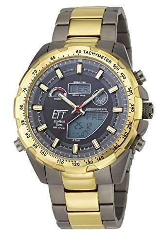 Herren-Funkuhr Eco Tech Time Solar Drive Funk Explorer Herrenuhr EGT-11272-21M Herren-Funk-Armbanduhr