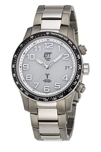 Herren Solar Funkuhr Eco Tech Time Solar Drive Funk Aviation II Herrenuhr EGT-11274-12M Herren-Funk-Armbanduhr