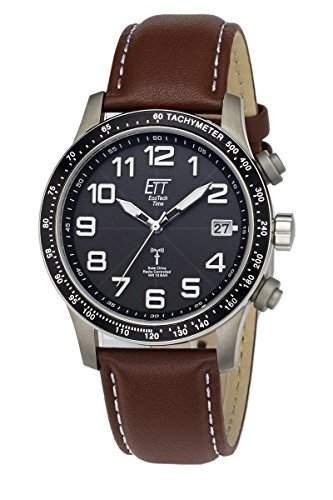 Herren-Funkuhr Eco Tech Time Solar Drive Funk Aviation II Herrenuhr EGT-11276-22L Herren-Funk-Armbanduhr