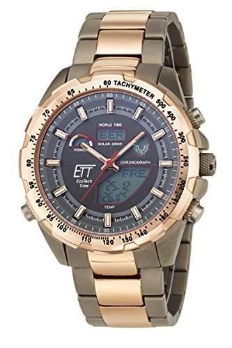 Herren-Funkuhr Eco Tech Time Solar Drive Funk Explorer Herrenuhr EGT-11278-21M Herren-Funk-Armbanduhr