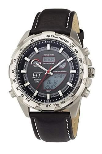 Herren-Funkuhr Eco Tech Time Solar Drive Funk Explorer Herrenuhr EGT-11279-21L Herren-Funk-Armbanduhr
