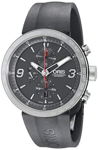 Oris TT1 Chronograph Automatic Stainless Steel Mens Watch Calendar Grey Dial 674-7659-4163