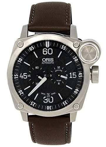 Oris BC4 Der Meisterflieger Automatic Steel Mens Luxury Strap Watch Calendar 749-7632-4194-LS