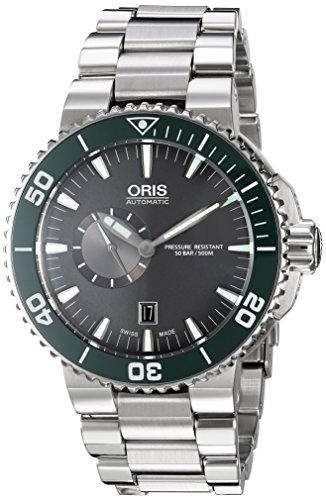 Oris Herren Aquis Swiss Automatik Edelstahl Kleid Uhr Farbe silberfarbene Modell 74376734137 MB